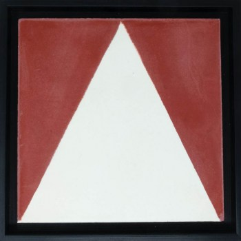 White Triangle In Red Black Frame7